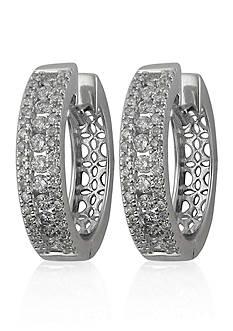 Belk & Co. Diamond Hoop Earring in 14k White Gold