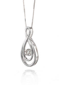 Move My Heart Moving Diamond Figure 8 Pendant set in Sterling Silver
