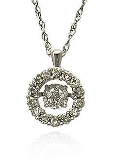Belk & Co. Diamond Pendant in 14k White Gold