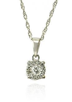 Belk & Co. Diamond Earring and Pendant Set in 14k White Gold