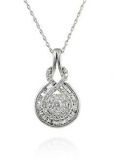 Belk & Co. Diamond Teardrop Pendant in 14k White Gold