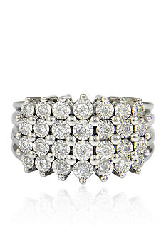 Belk & Co. Diamond Pyramid Ring in Sterling Silver