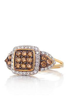 Belk & Co. Mocha Diamond Ring in 10k Yellow Gold