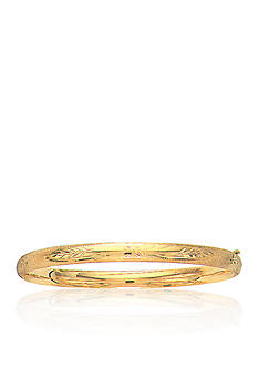 Belk & Co. 14K Yellow Gold Classic Engraved Florentine Bangle