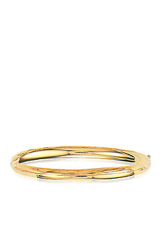 Belk & Co. 14 K Yellow Gold Polished Bangle Bracelet