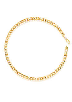 Belk & Co. 14K Yellow Gold Hollow Miami Cuban Bracelet