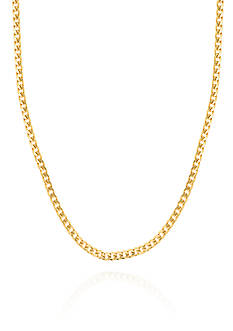 Belk & Co. 14K Yellow Gold Hollow Miami Cuban Chain Necklace