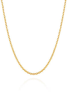 Belk & Co. 14K Yellow Gold Textured Chain Link Necklace