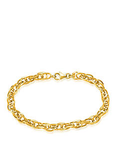 Belk & Co. 14K Yellow Gold Polished Interlocked Oval Link Bracelet