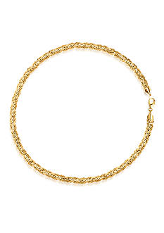 Belk & Co. 14K Yellow Gold Byzantine Bracelet