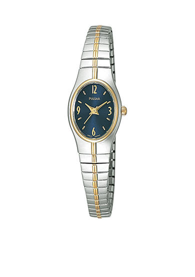 Pulsar Women's Two-Tone Oval Dial Expansion Watch