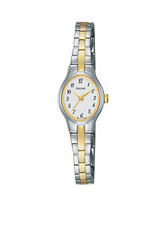 Pulsar Women's Stainless White Dial Two-Tone Watch