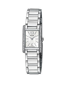 Pulsar Women's Crystal Accented Silver-Tone Dress Watch