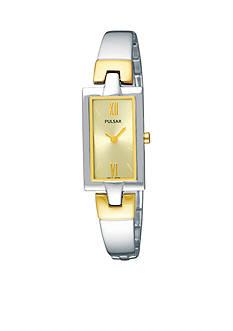 Pulsar Women's Two-Tone Champagne Dial Quartz Dress Watch