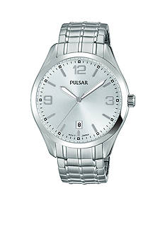Pulsar Men's Traditional Expansion Silver-Tone Watch