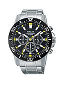 Pulsar Men's Silver-Tone Chronograph Watch