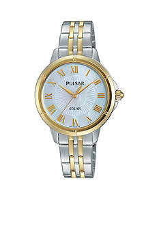Pulsar Women's Two-Tone Solar Watch