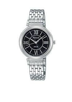 Pulsar Women's Silver-Tone Solar Watch