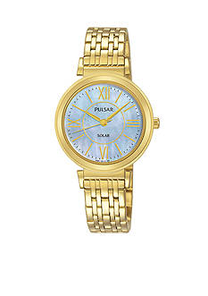 Pulsar Women's Gold-Tone Solar Watch