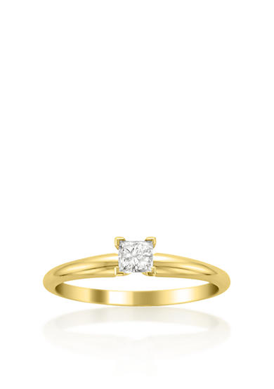Belk & Co. 1/4 ct. t.w. Solitaire Diamond Engagement Ring in 14k Yellow Gold