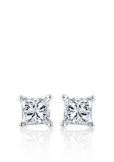 Belk & Co. Diamond Stud Earrings in Platinum