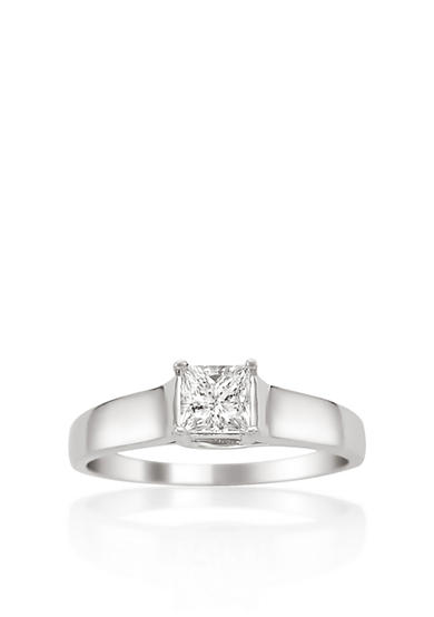 Belk & Co. 1/4 ct. t.w. Solitaire Diamond Engagement Ring in 14k White Gold