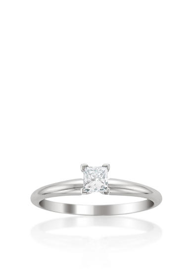 Belk & Co. 3/4 ct. t.w. Diamond Solitaire Engagement Ring in 14k White Gold