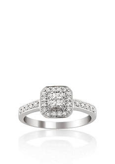 Belk & Co. 1/3 ct. t.w. Halo Diamond Engagement Ring in 14k White Gold