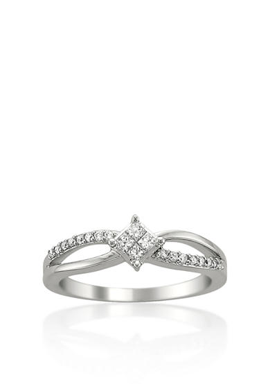Belk & Co. 1/4 ct. t.w. Diamond Engagement Ring in 14k White Gold