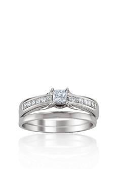Belk & Co. 5/8 ct. t.w. Diamond Bridal Ring Set in 14k White Gold