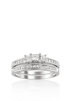 Belk & Co. 1 ct. t.w. Diamond Bridal Ring Set in 14k White Gold