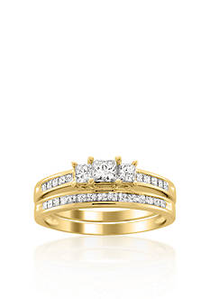 Belk & Co. 1 ct. t.w. Diamond Bridal Ring Set in 14k Yellow Gold