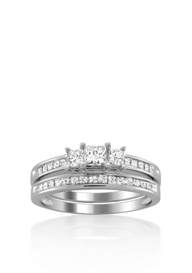 Belk & Co. 1.50 ct. t.w. Diamond Bridal Ring Set in 14k White Gold