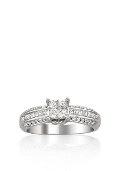 Belk & Co. 1/4 ct. t.w. Diamond Solitaire Bridal Ring Set in 14k White Gold