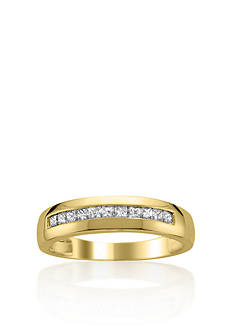Belk & Co. 1/2 ct. t.w. Men's Diamond Wedding Band in 14k Yellow Gold