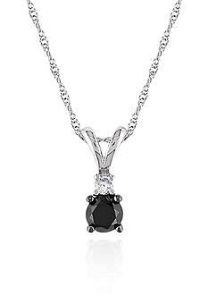 Belk & Co. Black and White Diamond Pendant in 10k White Gold