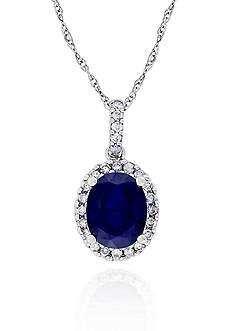 Belk & Co. 14k White Gold Sapphire Pendant