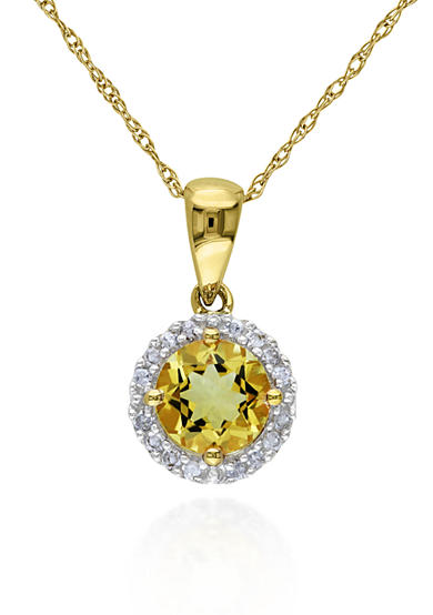 Belk & Co. 10k Yellow Gold Citrine Pendant