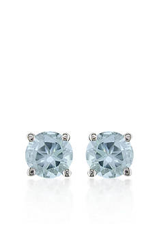 Belk & Co. 14k White Gold Aquamarine Stud Earrings