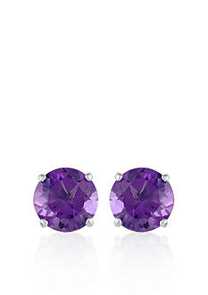 Belk & Co. 14k White Gold Amethyst Stud Earrings