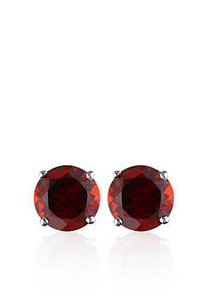Belk & Co. 14k White Gold Garnet Stud Earrings