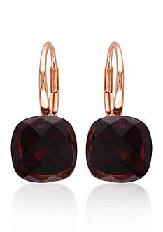 Belk & Co. 14k Rose Gold Garnet Earrings