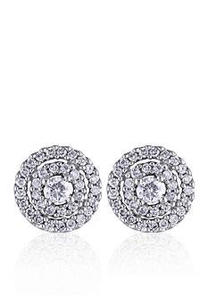 Belk & Co. Diamond Stud Earrings in 14k White Gold