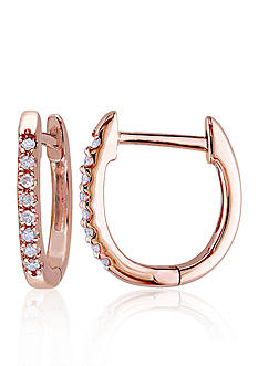 Belk & Co. Diamond Hoop Earrings in 10k Rose Gold