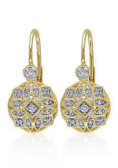 Belk & Co. Diamond Earrings in 14k Yellow Gold