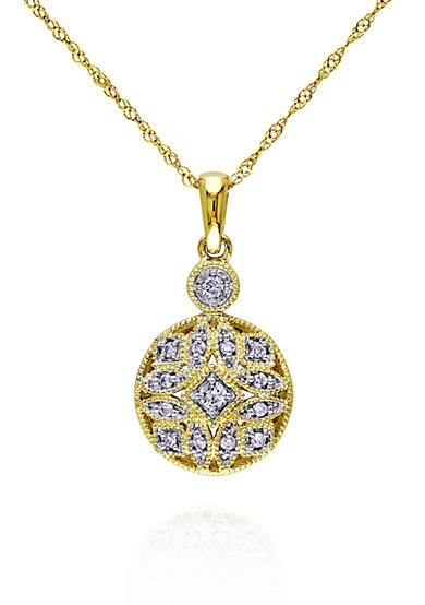 Belk & Co. Diamond Pendant in 14k Yellow Gold