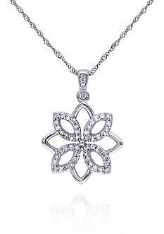 Belk & Co. Diamond Flower Pendant in 14k White Gold
