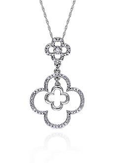 Belk & Co. Diamond Clover Pendant in 10k White Gold