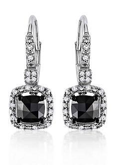 Belk & Co. Black and White Diamond Earrings in 14k White Gold
