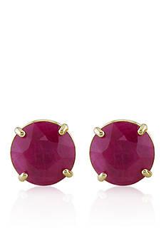 Belk & Co. 10k Yellow Gold Ruby Stud Earrings